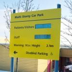 Bespoke post and panel sign