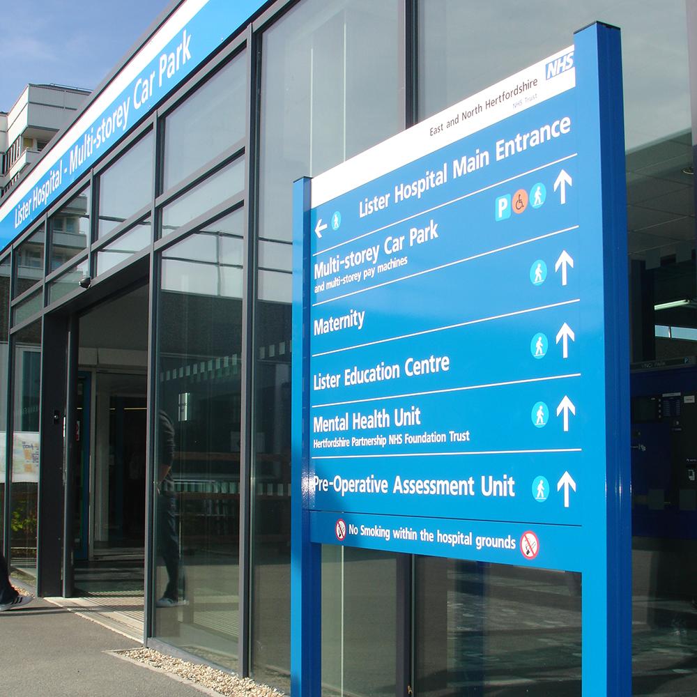 NHS Modular sign